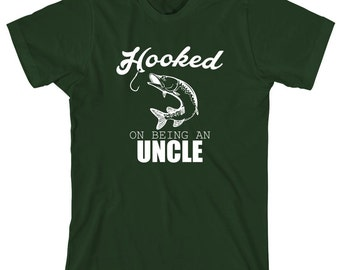 Hooked On Being An Uncle Shirt, uncle gift, Christmas gift, birthday gift, fisherman gift, fishing uncle - ID: 1660