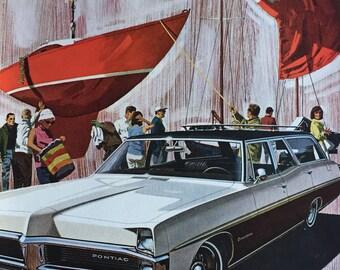 1967 Pontiac ad, great retro graphics.