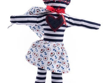 Rag doll superhero Mister Matelot-Fabric rag doll