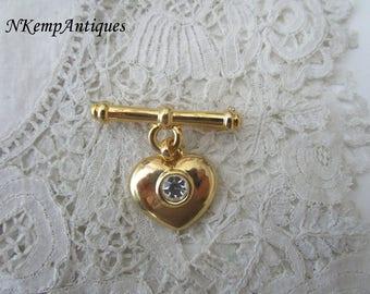 Vintage heart brooch