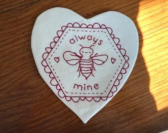 Valentine Mug Rug/ Candle Mat