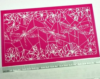 Beadcomber Silk Screen - Dragonflies Silkscreen for Polymer clay, or flat surfaces such as metal, Paper Crafts and DIY