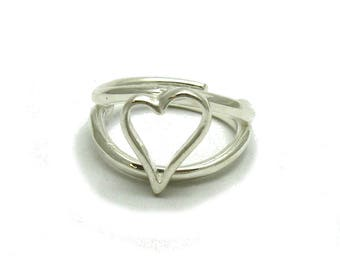 Sterling silver ring solid 925 Heart pendant