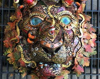 Tête de tigre saison automne steampunk