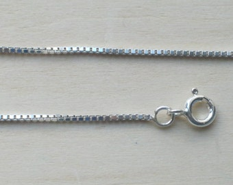 """925 Sterling Silver Box Chain Bracelet Necklace Ankle Chain Anklet 6"""" - 30"""""""