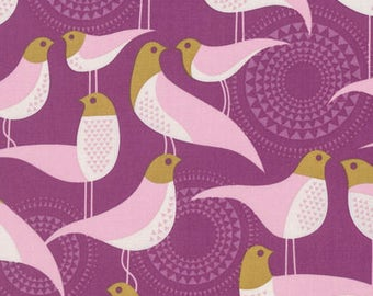 Modernist by Joel Dewberry for Free Spirit - Perch - Plum - 1/2 yard Cotton Quilt Fabric