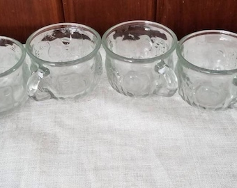 Vintage, Jeanette, Grapes, Pears and Apples, 6 Punch Cups