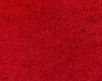 Luxurious Red Stretch Velvet Fabric by the yard