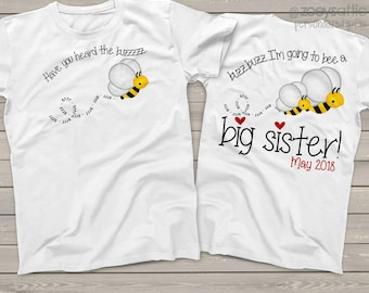 big sister shirt - adorably simple and clean big sister to bee tee MBEE-005