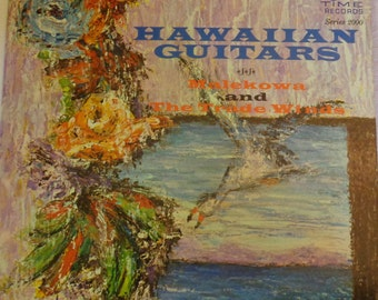 Hawaiian Guitars LP Record Vinyl Recording Malekowa and The Trade Winds Stereo