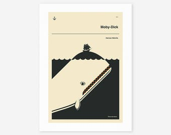 MOBY-DICK (Giclée Fine Art Print/Photo Print/Poster Print) by Jazzberry Blue