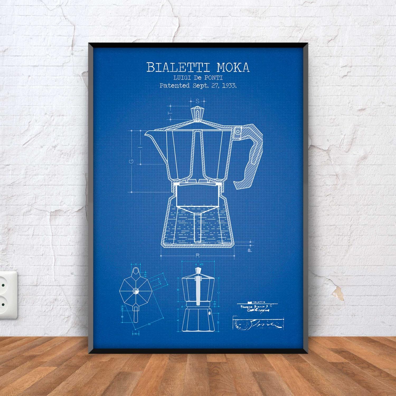 BIALETTI MOKA poster bialetti moka patent print bialetti