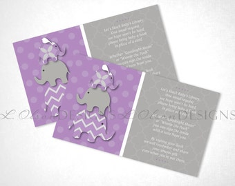 Stacked Elephants Book Request - Purple - DIY Printable - INSTANT DOWNLOAD