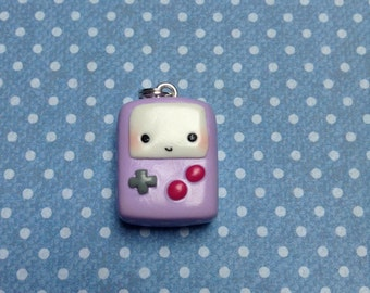 Kawaii Polymer Clay Gameboy Charm
