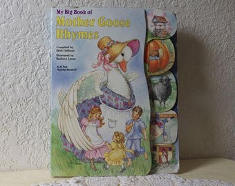 My Big Book of MOTHER GOOSE RHYMES, Hardcover, an at your Fingertips Storybook