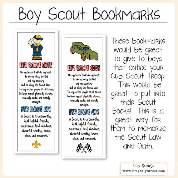 Trust image pertaining to cub scout oath and law printable