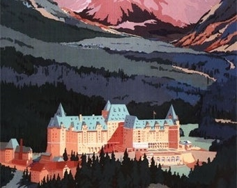 Exterior View of Banff Springs Hotel (Art Prints available in multiple sizes)