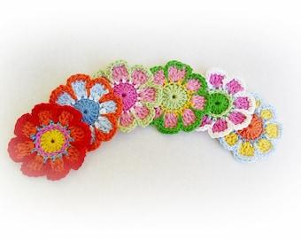6 Enchantée Crochet Flowers- Happy