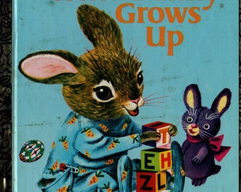 When Bunny Grows Up a Little Golden Book + Patsy Scarry + Richard Scarry + 1992 + Vintage Kids Book