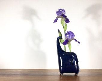elephant vase ONE / bud vase / bright blue / price for one elephant