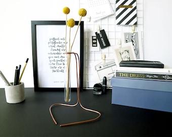 Kabine Geschenk, Knospe Vase, Eingang Vase, Desktop ihr Geschenk, Geschenk-Ideen für Schreibtisch Dekor, Vase Schreibtisch Dekor, Schreibtisch, moderne Vase Geschenk für sie