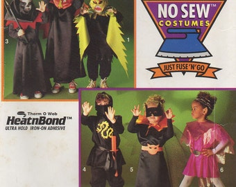 Childrens Halloween Costume Pattern - No Sewing - 1993 Simplicity 0676