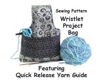 wristlet project bag knitting project bag crochet project bag small project bag knitting organizer supply bag