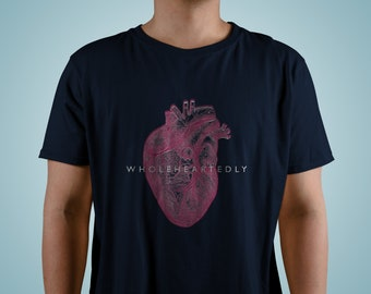 Wholeheartedly - Anatomically Correct Heart T-Shirt for Men