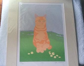 Joan Freestone  -  Ltd. Ed. Print  ' TAUI '  Cat.  Sealed. New. 197/300.  RARE