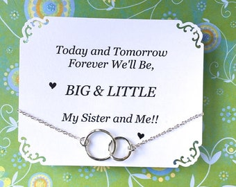 GRANDE et petite sœur sororité cadeau argent cadeau de Graduation pour grande soeur pour cadeau d'anniversaire petite soeur pour la sœur sororité