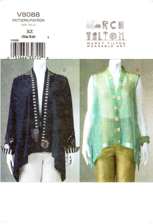 SZ XLg/XXl Vogue Jacke Muster V8088 von MARCY TILTON