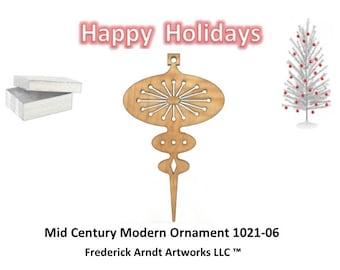 1021-6 Mid Century Modern Christmas Ornament