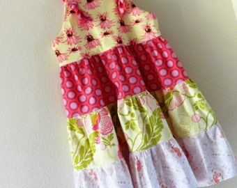 Girls Fall Country Dress 4 Ready to Ship Tiered Knot dress Dress