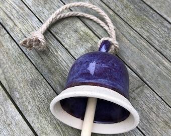 Ceramic Stoneware Bell with Purple Glaze