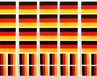 40 Removable Stickers: German Flag, Germany Party Favors, Decals