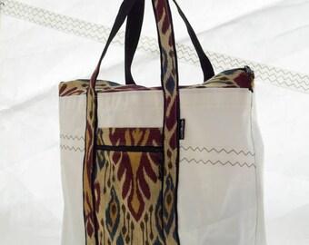 Recycled Sail, Upholstery Cloth, Beach Bag, Vegan Bag, Large Beach Tote