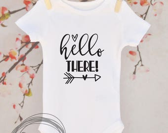 Hello There // Baby Apparel, Toddler Shirts, Trendy Baby Clothes, Cute Baby Clothes, Baby and Toddler Clothes