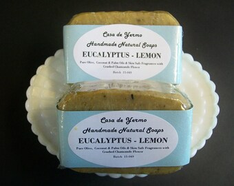 Eucalyptus & Lemon Chamomile Scrub - 2 Bar Pack. Olive, Palm and Coconut Oils and Skin Safe Fragrances. (Use Coupon Code CDY18)