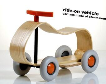 Slide vehicle / from 2 years / skid / toy / wooden wheel / children / baby slide / wooden slide / baby / toddler / wheel