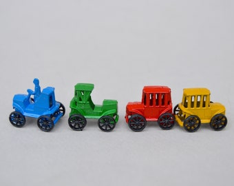 Vintage Metal Cars with Original Box . Smallest Old Timers Ever Made Cars . JAPAN . Toy