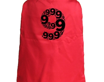 Birthday Cape - 9th Birthday Superhero 9 year old Cape - Kids Cape - Reversible Red / Blue - Super hero - great birthday gift or present