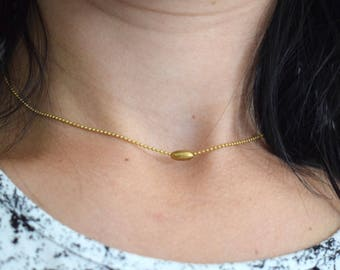 Minimalistic Necklace, Every Day Necklace, Brass Chain Necklace, Mini Necklace, Statement Necklace, Choker Necklace