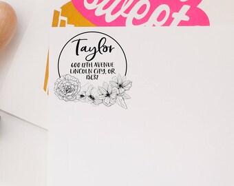 Return Address Stamp,  Personalized Address Stamp, Wedding Invitation Stamp, Custom Address Stamp, Calligraphy Stamp, Address Label