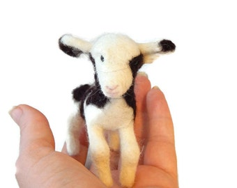 Custom Needle felted  Jacobs Sheep lamb Soft Sculpture. Country art