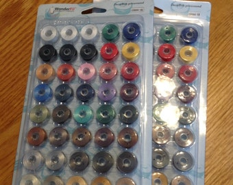 DecoBob Prewound Bobbins Master Set, L  size, Wonderfil  Thread