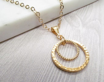 Circle within circle gold chain eyeglass loop lanyard; spectacles holder; glasses chain; holder necklace; gold eyeglass chain; kalxdesigns