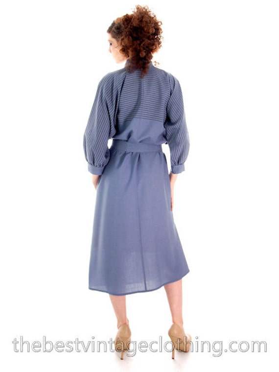 Beautiful Dress Vintage Finland Wool Blue S Fine Vuokko 1970s Suomi ar07Bwxnqa