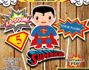 Superhero Centerpieces , Superman Centerpieces, Party Signs Instant Donwload, Party Printable, Photo Props RP-53