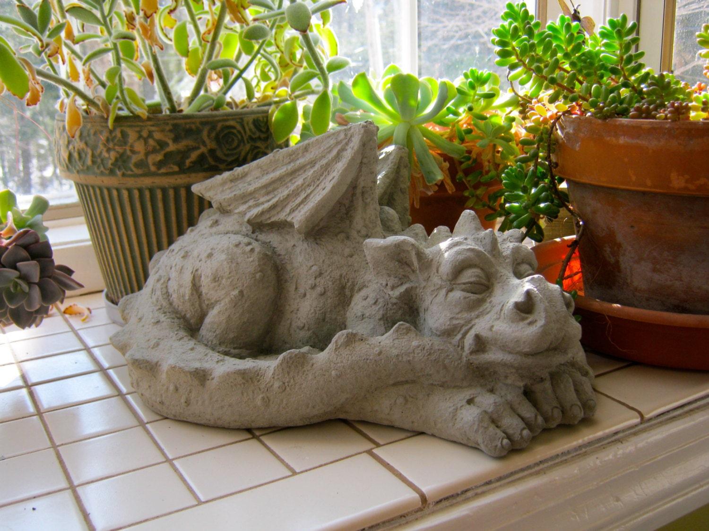 Dragon Statue Concrete Dragons Medieval Monster Large