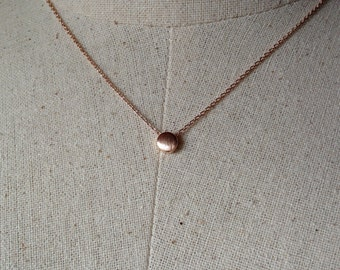 Rose Gold Dot Necklace, Dainty Necklace, Tiny Dot Necklace
